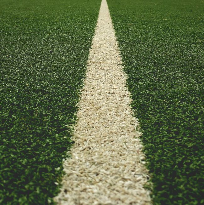 The Color Of Sport On The Way The Line Division Drawing The Line Between Draw The Line Tennis Court Tennis Court Line White Line Green And White Green Turf Tenniscourt Drawing The Line On The Way