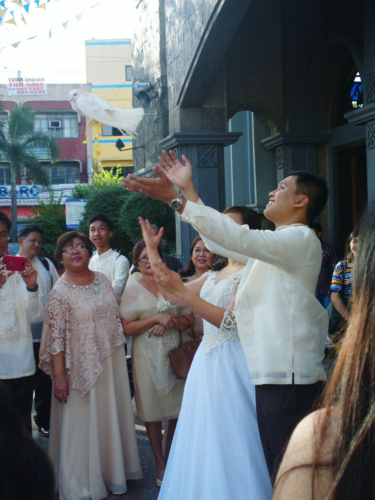 Bride Newlyweds Groom EyeEmNewHere Happy Moment Happy People Church Dream Comes True!