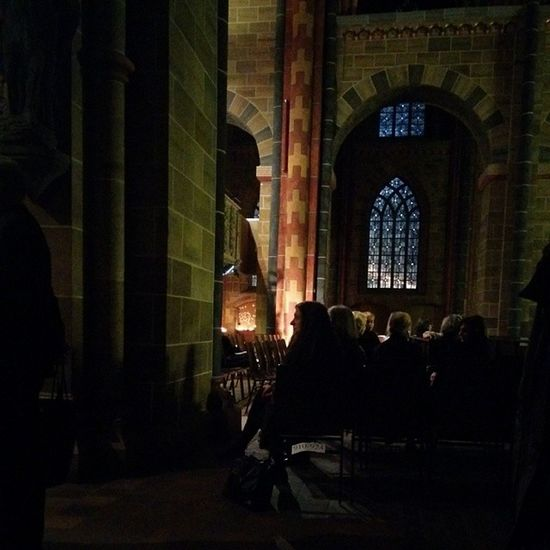 The last hours before the concert starts Cathedral Berlioz Choir