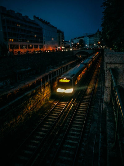 Lifes Moving Fast Nightfall Railroad Track Still Miss You Subway Summertime Sadness Sunset Vienna Wherever You Are...