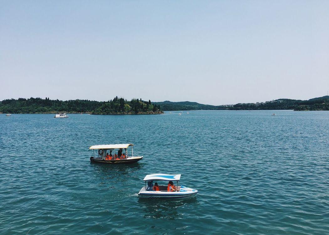 Lake Boat Relaxing Lagoon Enjoying Life