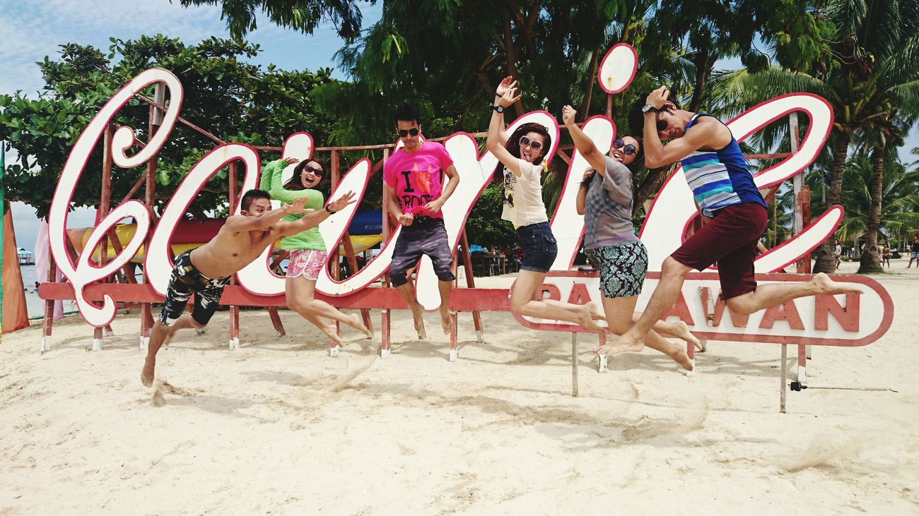 Life Is A Beach Enjoying Life Lifeisbeautiful Lifeisabeach Thats Me  Jumpshot Palawan Beach Friends Bantungal