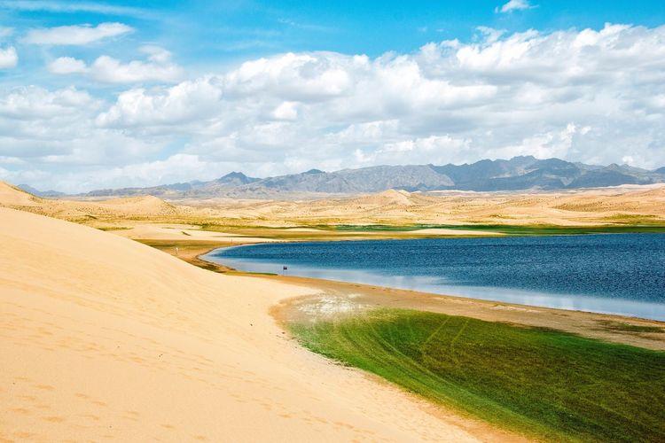 Check This Out Color Qinghai Nature Nature_collection Landscape Travel Landscape_Collection Highlands Sand & Sea Desert Lake Summer