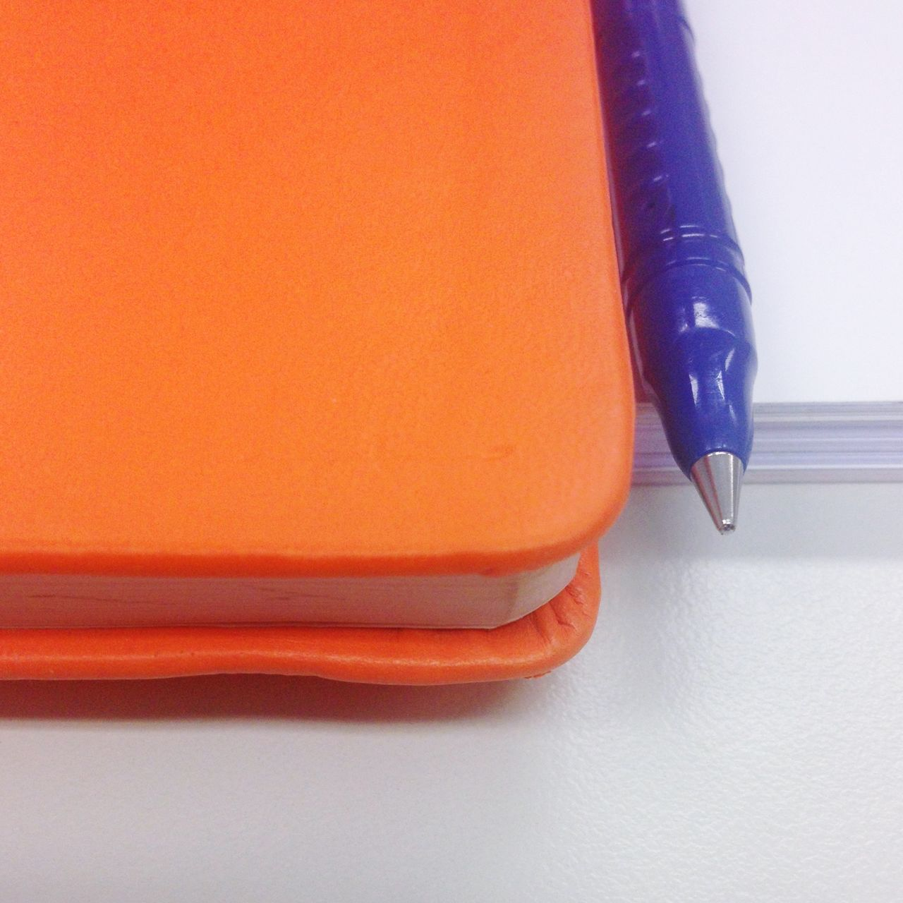 Office Office View Working Work Materials Orange Book Pen