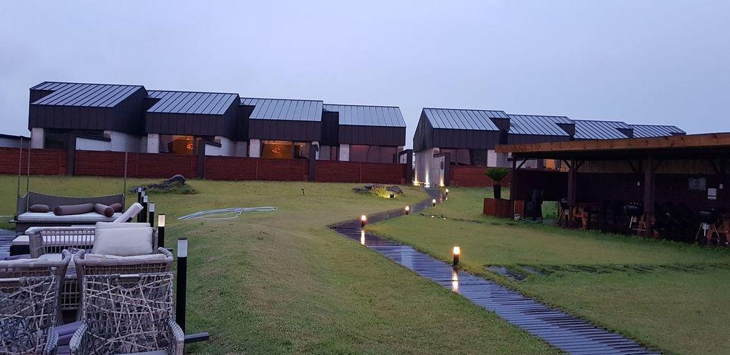 Masion De Jeju in Jeju Island, Korea. Masion De Jeju Jeju Island, Korea Built Structure Architecture Building Exterior Grass Day Outdoors Sky No People