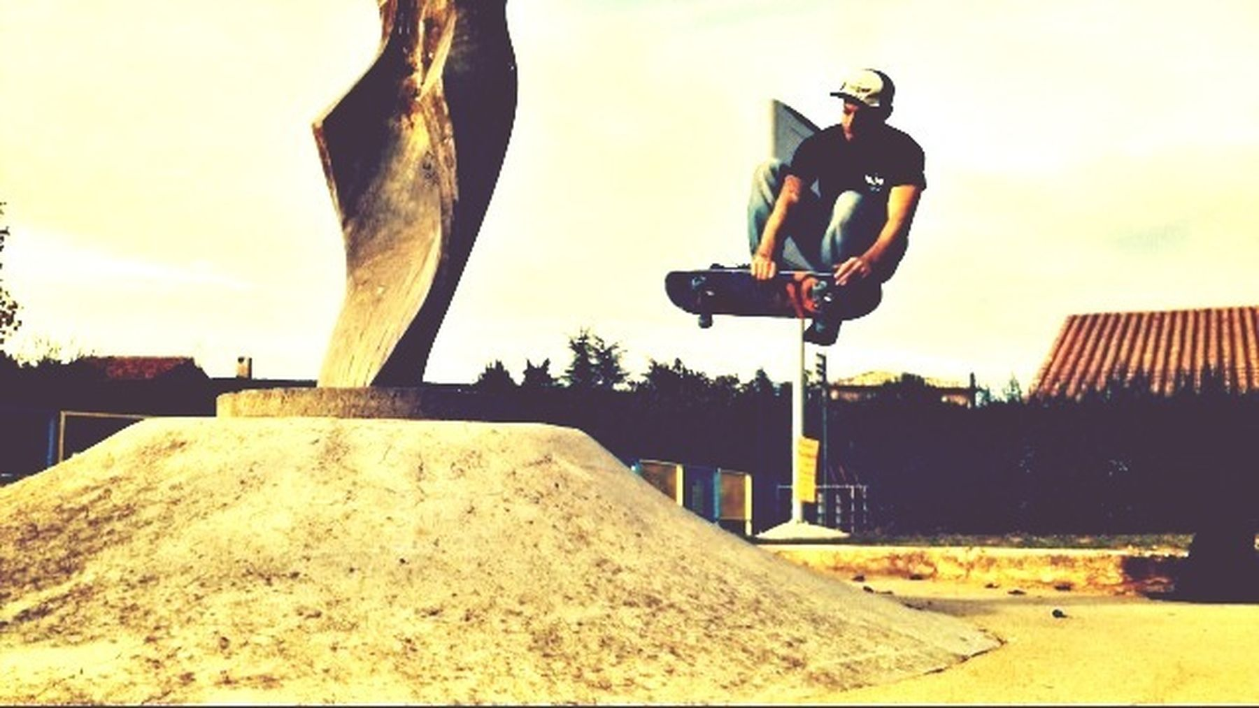 Skateboarding Fly Colors Enjoying Life