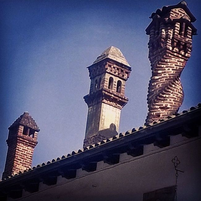 The Santa Claus choice Architectural Feature Architecture Artnouveau Brick Chimney Building Exterior Built Structure Chimneys Liberty Roof Rooftop Sky Spiral First Eyeem Photo