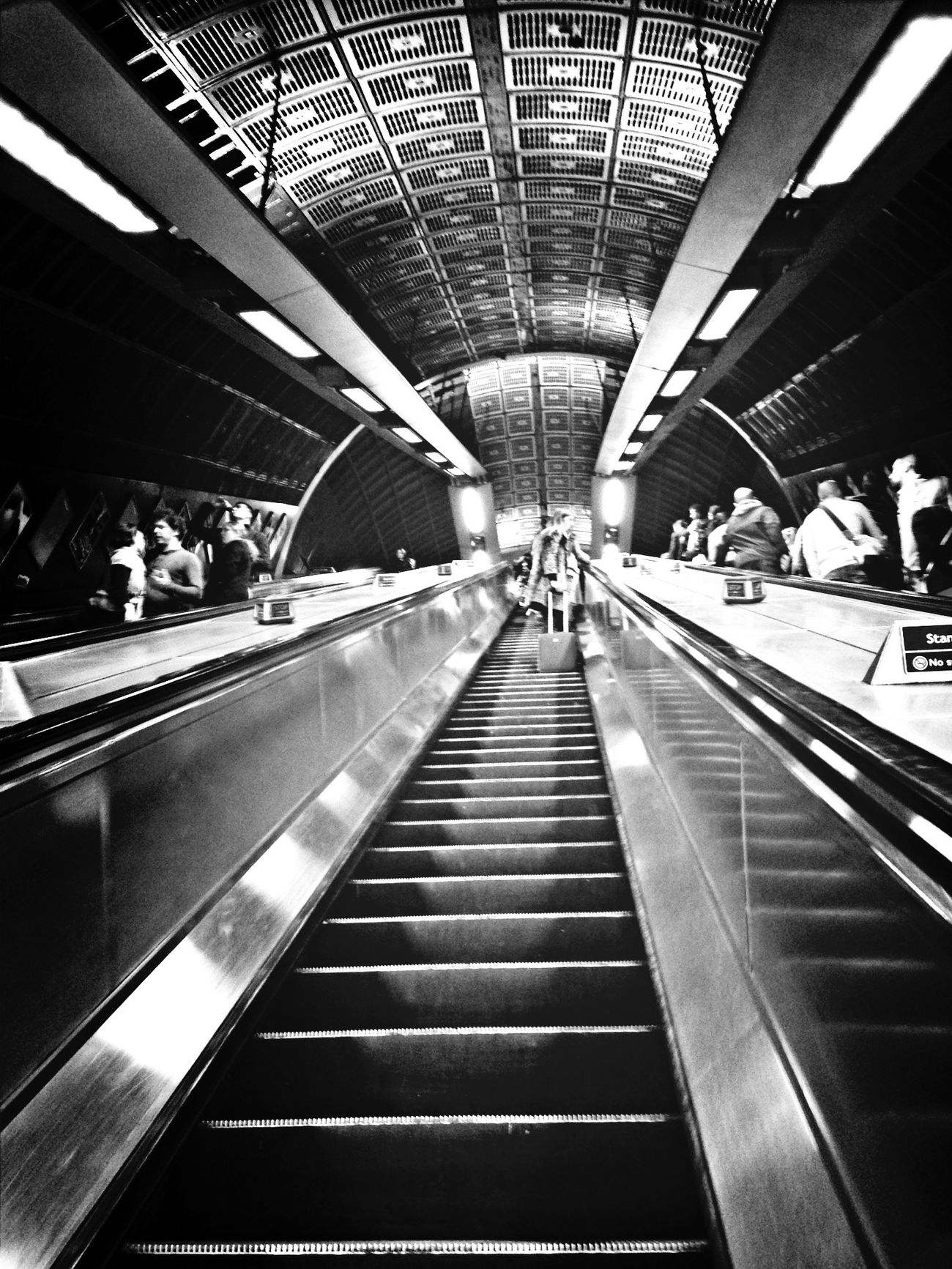 Blackandwhite Subway London Tube