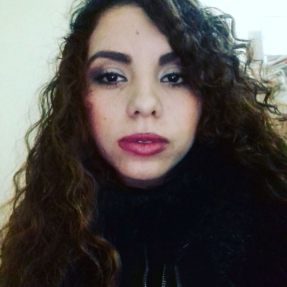 Faces Of EyeEm Beautiful Woman Portrait Curly Hair MexicanGirl Red Lips