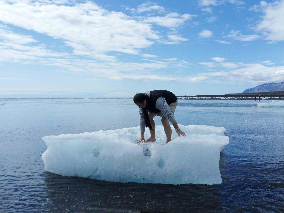 Sky Sea Outdoors Ice Ocean Eisscholle Human Boat Crazy EyeEm Traveling Schwimmen Swimming Surfing Break The Mold
