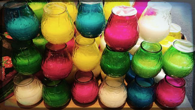 Candles Kerzen Duftkerzen Scented Candles In A Shop Colorful Clolors Seeing Things Fine Art Photography