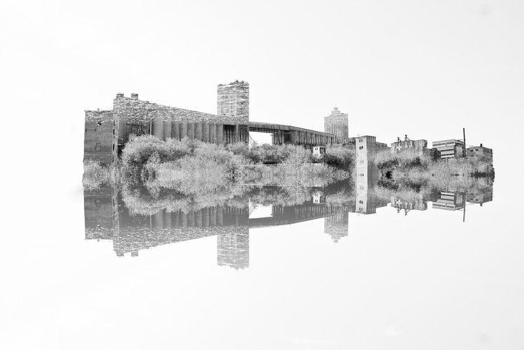 Architecture Blackandwhite Building City Double Exposure Elevator Monochrome No People Reflection