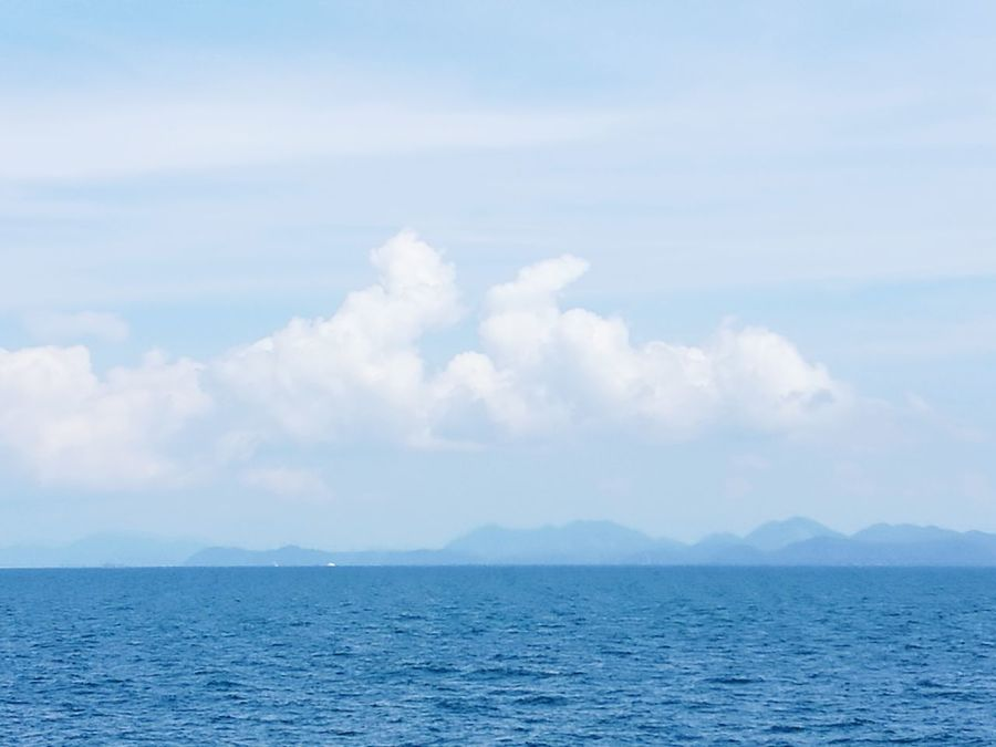 Cloud - Sky Nature Sea Blue Outdoors Beauty In Nature Alonetime Shapes In Nature  Look Like Human Vs Nature ınteresting Wow.  Thailandsky IslandView Between The Sky And Me Seeing The World Differently