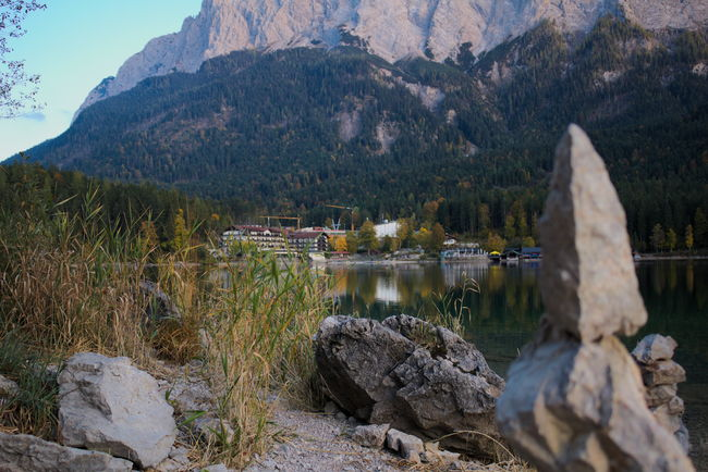 Beauty In Nature Day Eibsee Lake Landscape Landscape_Collection Landscape_photography Mountain Mountains Nature No People Outdoors Reflection Reflection_collection Rock Rock Formation Rocks Scenics Travel Destinations Tree Water Woods