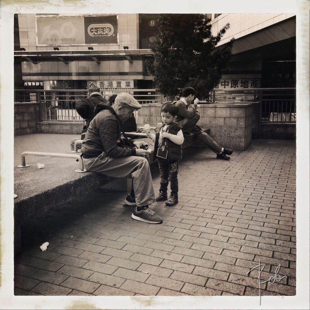 Generational Real People City Street Streetphotography Streetphoto_bw IPhoneography NEM GoodKarma AMPt_community NEM Street Hong Kong AMPt - Street Theappwhisperer Eyeem Philippines Monochrome Hipstamatic