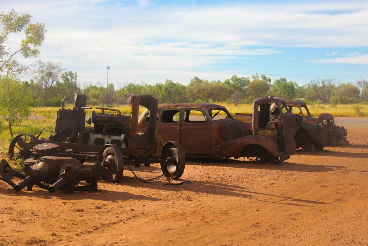 Beautiful stock photos of australia, Abandoned, Car, Cloud - Sky, Damaged