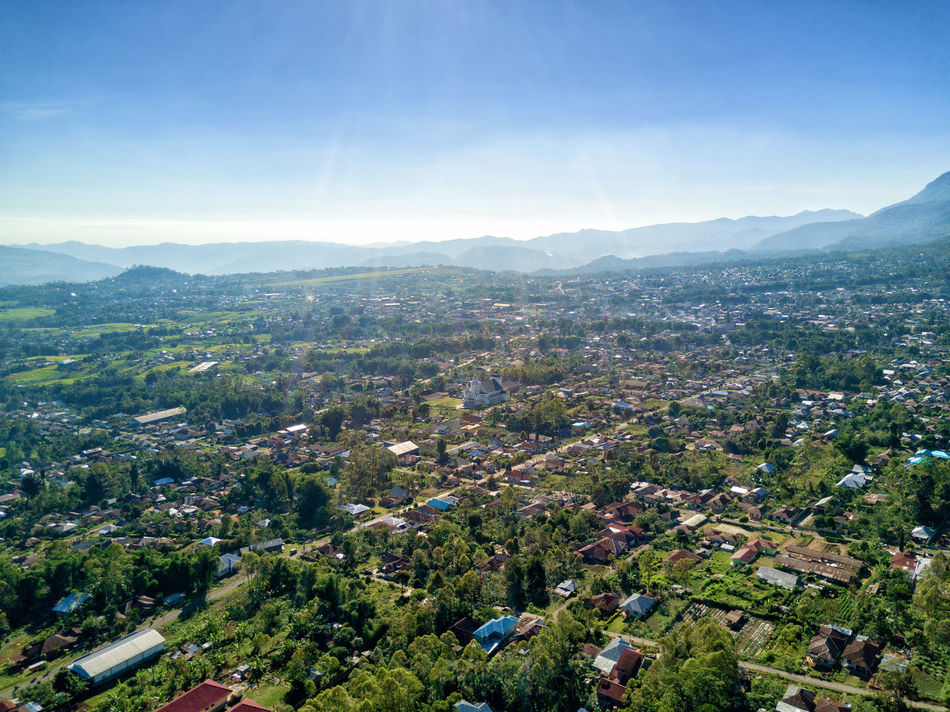 Aerial view of the town of Ruteng in western part of East Nusa Tenggara in Indonesia. DJI X Eyeem DJI Mavic Pro Flores Island Holiday INDONESIA Tourist Travel Travel Photography Adventure Aerial Aerial Photography Destination Dji East Nusa Tenggara Flores Landscape Manggarai Mountain Outdoors Ruteng Tourism Tropical Vacation Volcanic Landscape Volcano