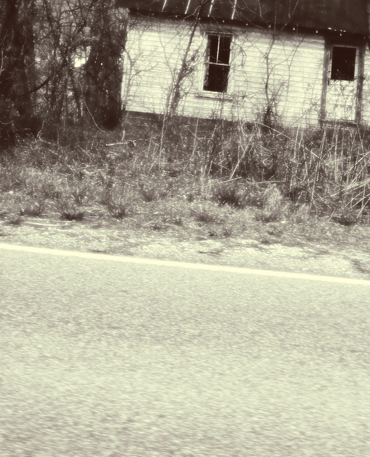 Abandoned House On An Old Highway