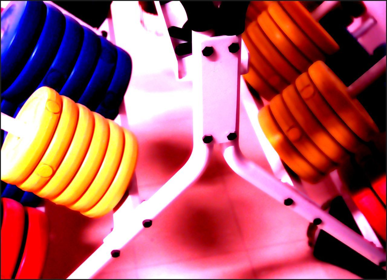 Beautifully Organized Close-up Colour Of Life Colours Indoors  No People Training Weights