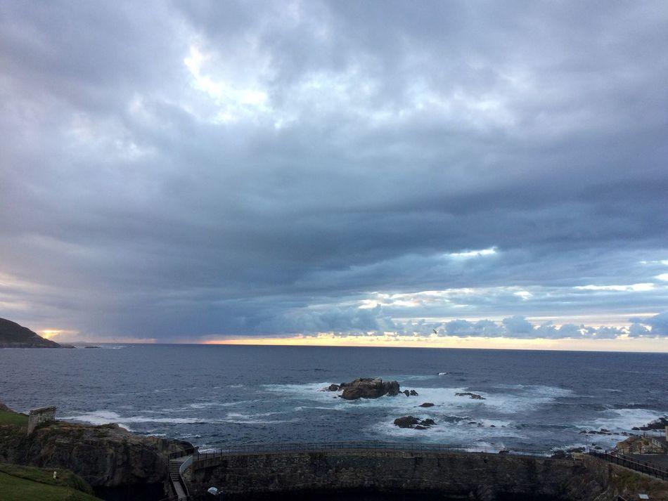 Sea Water Horizon Over Water Tranquil Scene Scenics Tranquility Sky Skyline Beauty In Nature Beauty Beautiful Nature Atlantic Ocean Acoruña Galicia Galicia Calidade