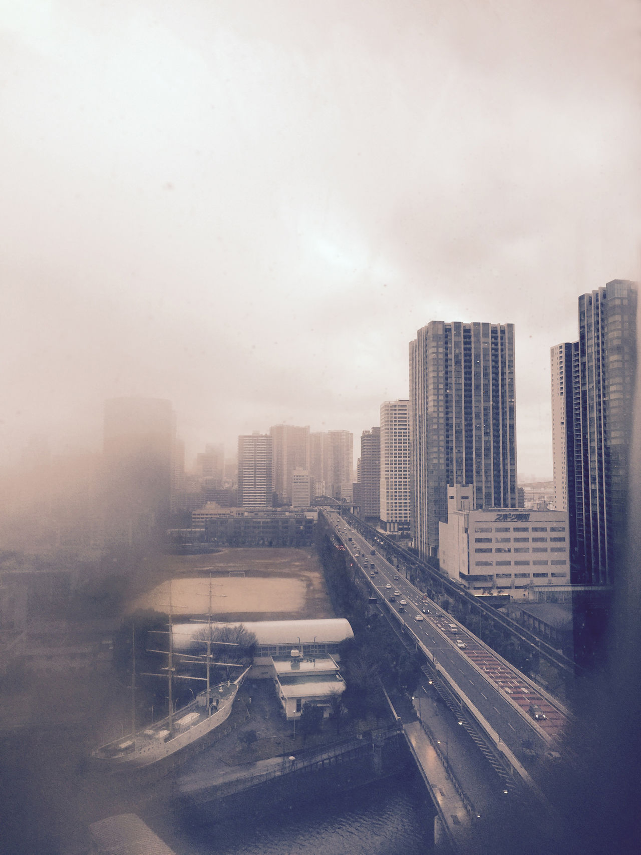 Architecture Building Built Structure City Cityscape Cloud - Sky From The Window Modern Office Building Overcast Road Snowy Urban Skyline Weather