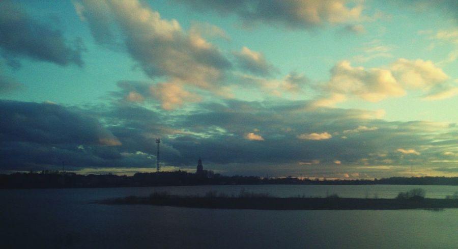 Закат в Пошехонье. пейзаж Природа вода небо Закат Landscape Nature Water Sky Sunset Outdoors Scenics Beauty In Nature No People