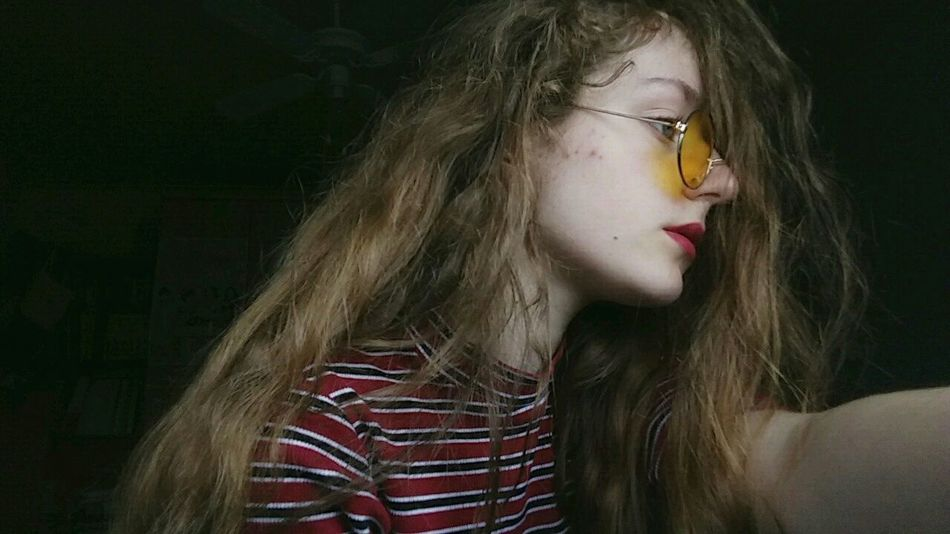 Human Body Part One Person People Day 80s 90s Sweet Sunglasses Glasses Round Glasses Yellow Indoors  Me One Woman Only Beauty Child Red Multi Colored