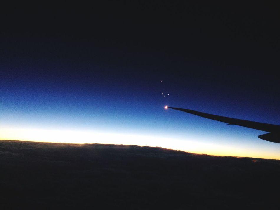 Beyond the sky there is peace aiAirplaneaDarkiAir VehicleeAerial View