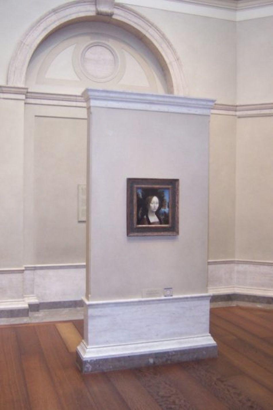 1474 - 1478 Florentine School Ginevra De' Benci Indoors  Leonardo Da Vinci National Gallery Of Art National Gallery Of Art, Washington DC Portrait, Female Washington DC