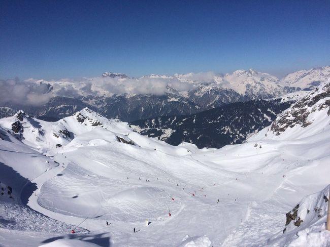Mountain View Autria Montafon Schuns Skiing Mountains