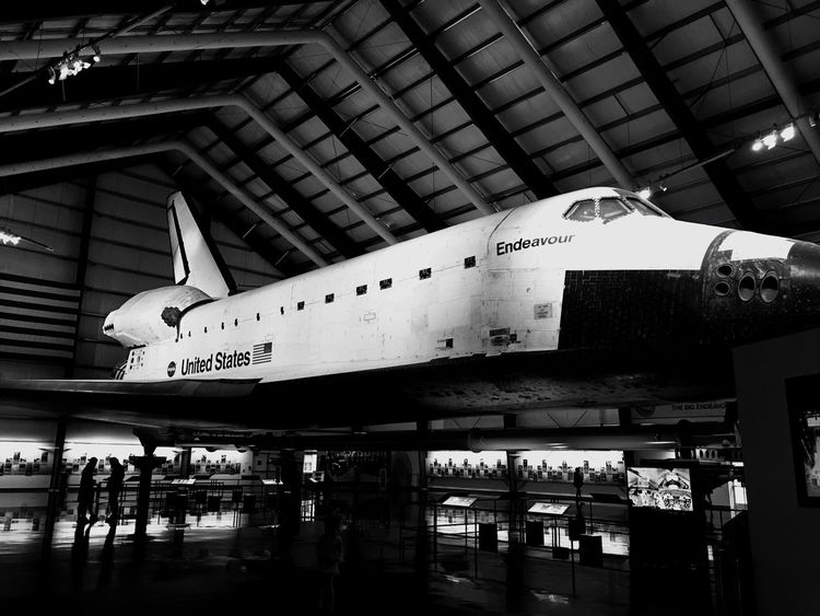 Airplane Air Vehicle Indoors  Day Architecture Aerospace Industry No People NASA Endeavour Losangeles USC  Science Museum  Blackandwhite