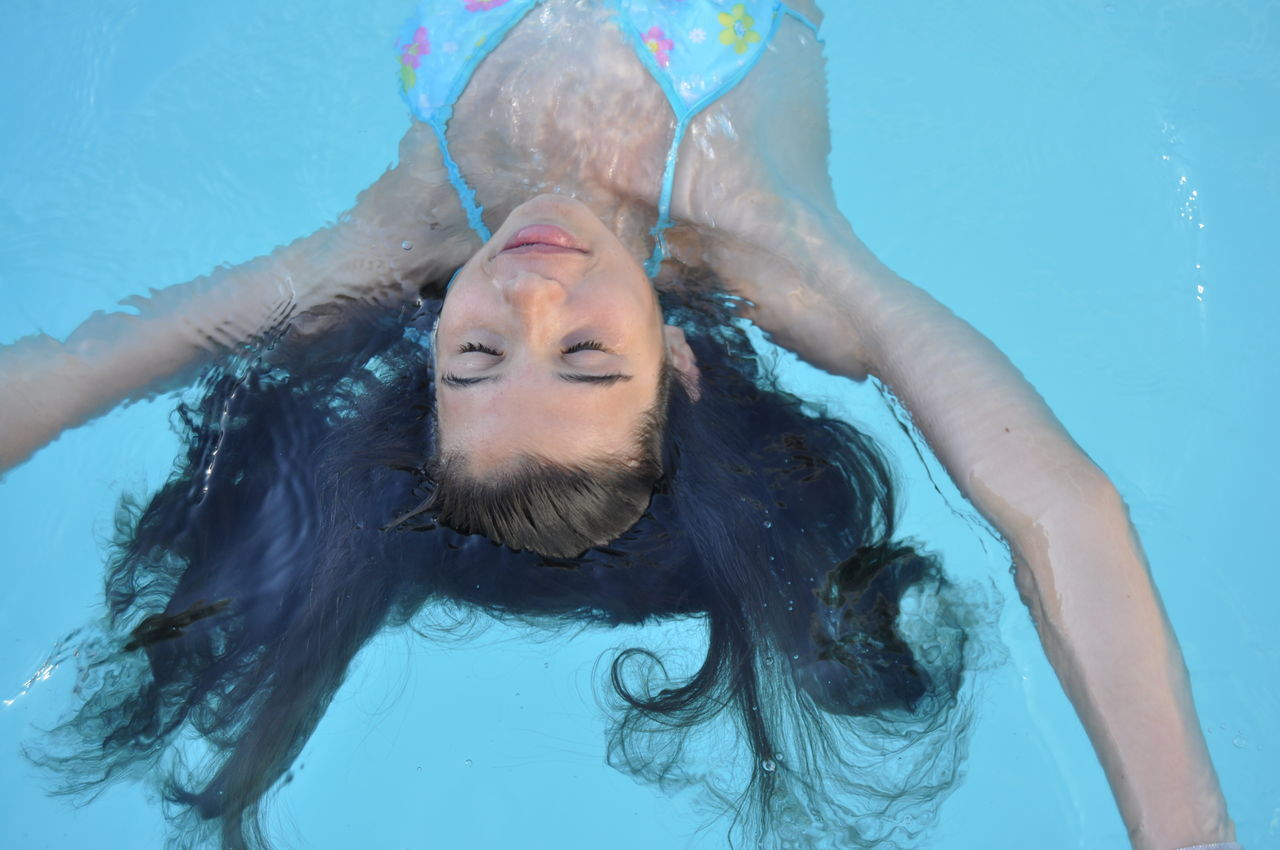 Beautiful stock photos of bad, swimming pool, water, headshot, one person