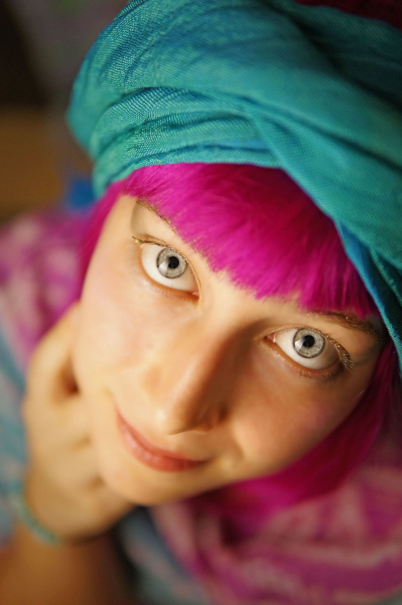 Jewish/Russian heritage eyes Big Eyes Big Eyes♡ Blue Blue Eyes Close Up Close-up Dyed Hair Eye EyeEm Best Shots Eyes Headshot Innocence Jewish Looking At Camera One Person People Pink Pink Hair Pink Wig Portrait Portrait Of A Friend Russian Girl Teenager Water Young Adult