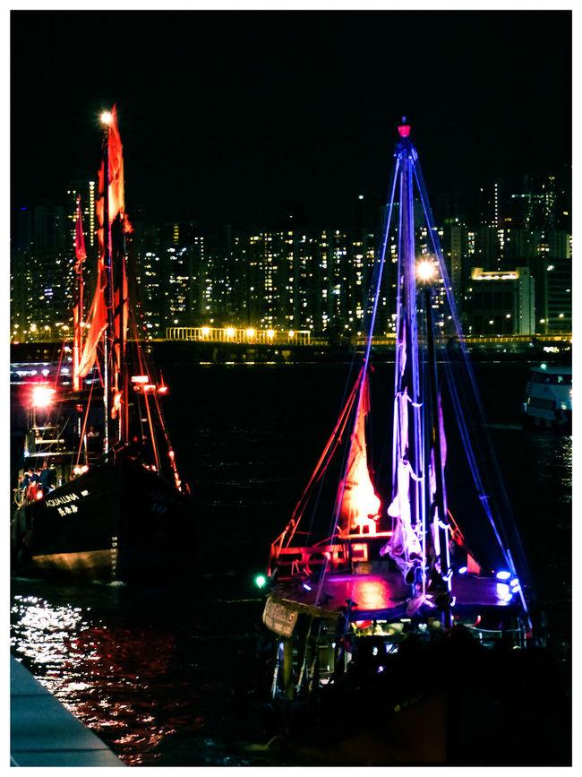 Hong Kong Hong Kong Victoria Harbour Hong Kong Cultural Centre 香港文化中心 Boats⛵️ Night Photography Night Time