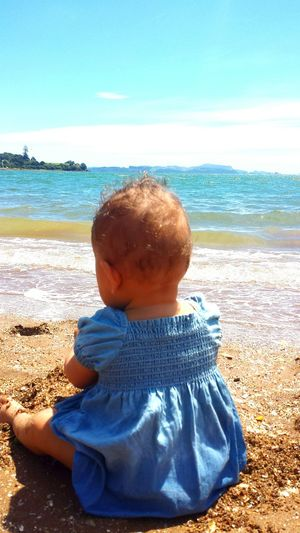 Horizon Over Water Nature Wave Outdoors Water Childhood Child People Sunlight Summer Swimming Beach Baby Water Baby Simple Pleasures Lifestyles Photograpy Baby Fashion Baby Adventures Baby Photography Ocean View Baby Collection New Zealand Babies Only People Watching