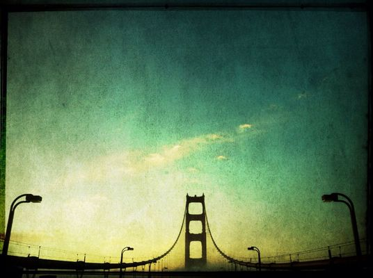San Francisco at Golden Gate Bridge by sepiatone