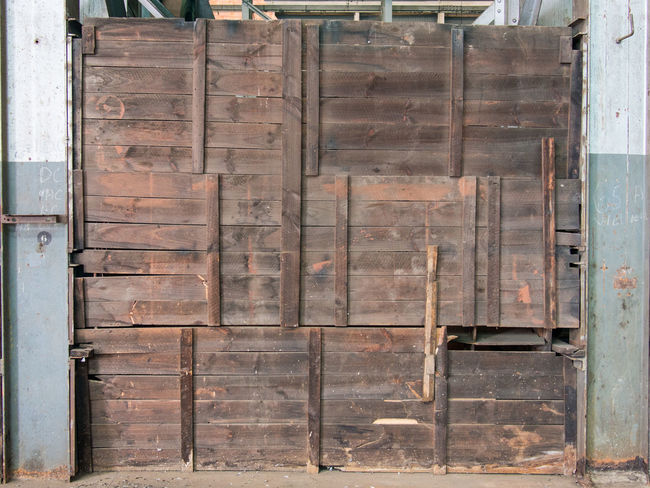 Wooden wall inside an old warehouse Industrial Inside Wall Warehouse Wood - Material Wooden