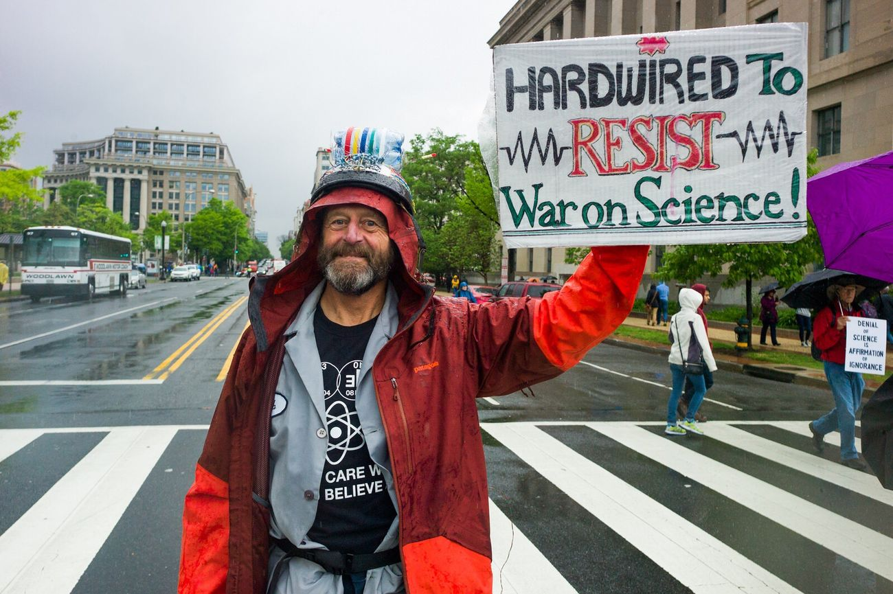 Protestor Politics And Government Earthday March For Science Washington, D. C. Leicacamera MarchforScience Science Democracy Banner - Sign Politics Resist
