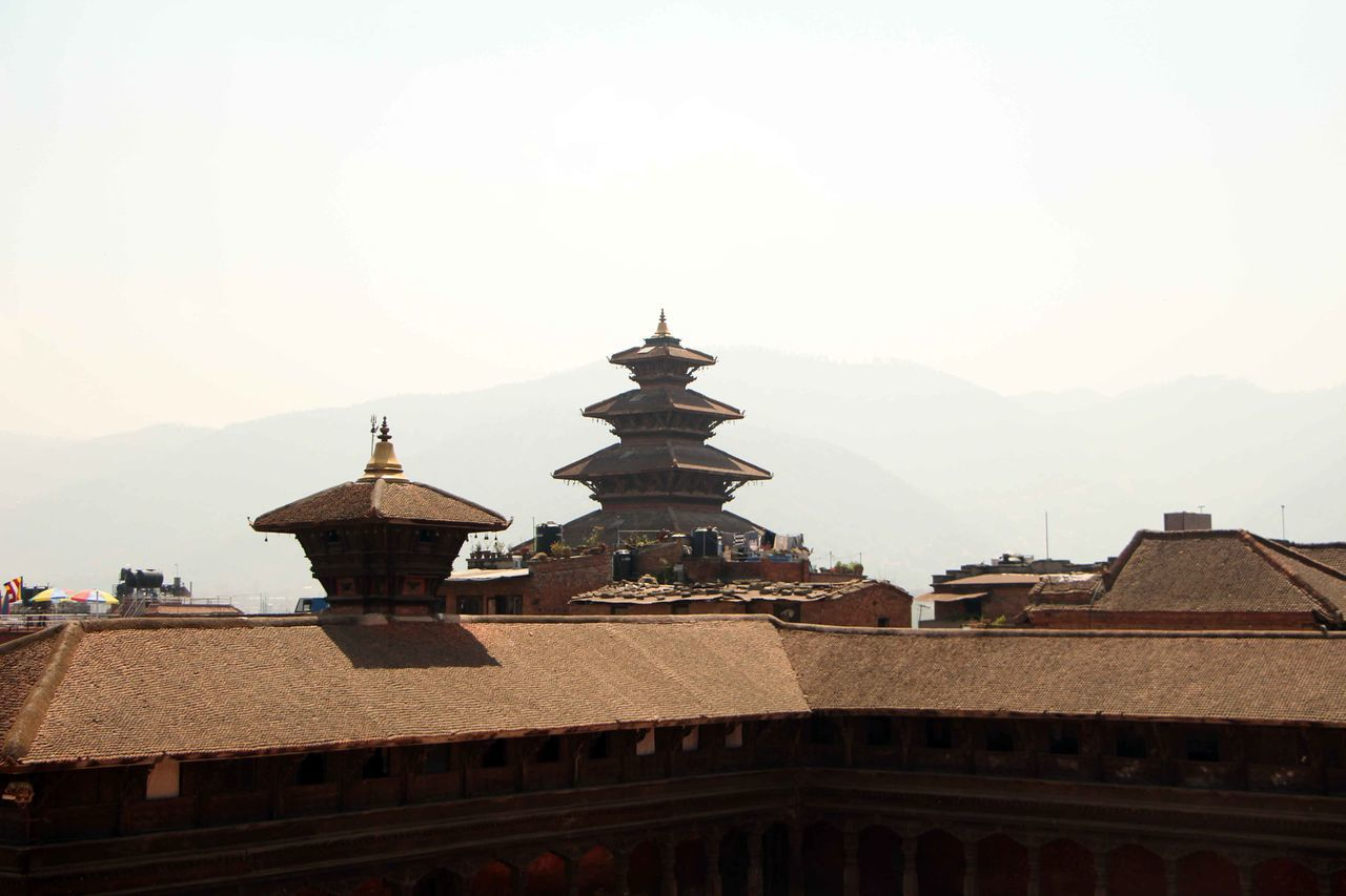 Architecture Basantapur Durbar Square Bhaktapur Durbar Square Building Exterior Built Structure Church Clear Sky Copy Space Day Dome High Section House Low Angle View Nepal No People Outdoors Place Of Worship Religion Roof Sky Spirituality Temple - Building Tourism Tourist Attraction  Tourist Destination