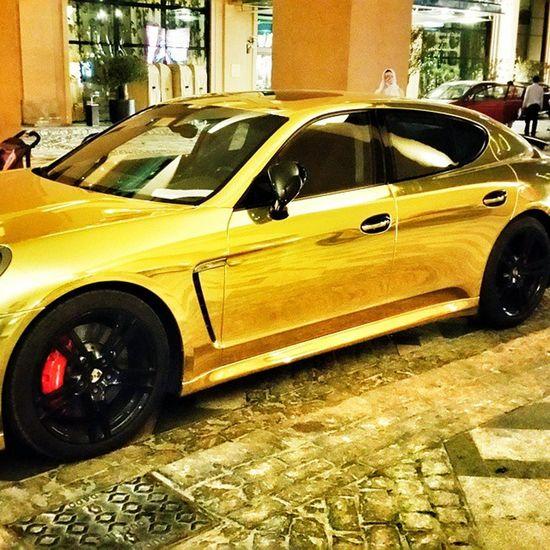 Dubai Porsche Panamera Gold $ saudi