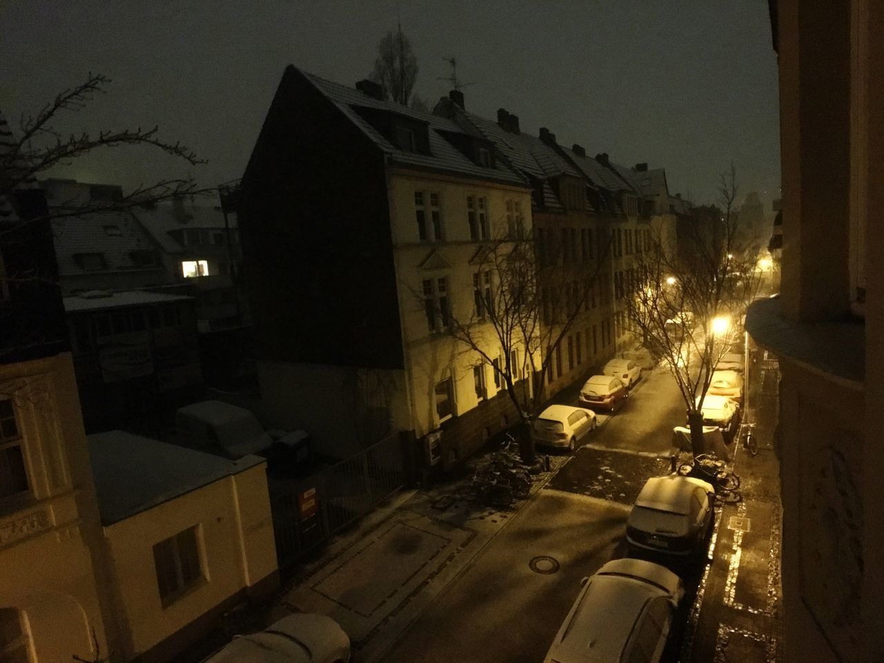 Building Exterior Illuminated Architecture Built Structure Night City No People Cold Temperature Winter Outdoors Snow Germany Street Streetphotography