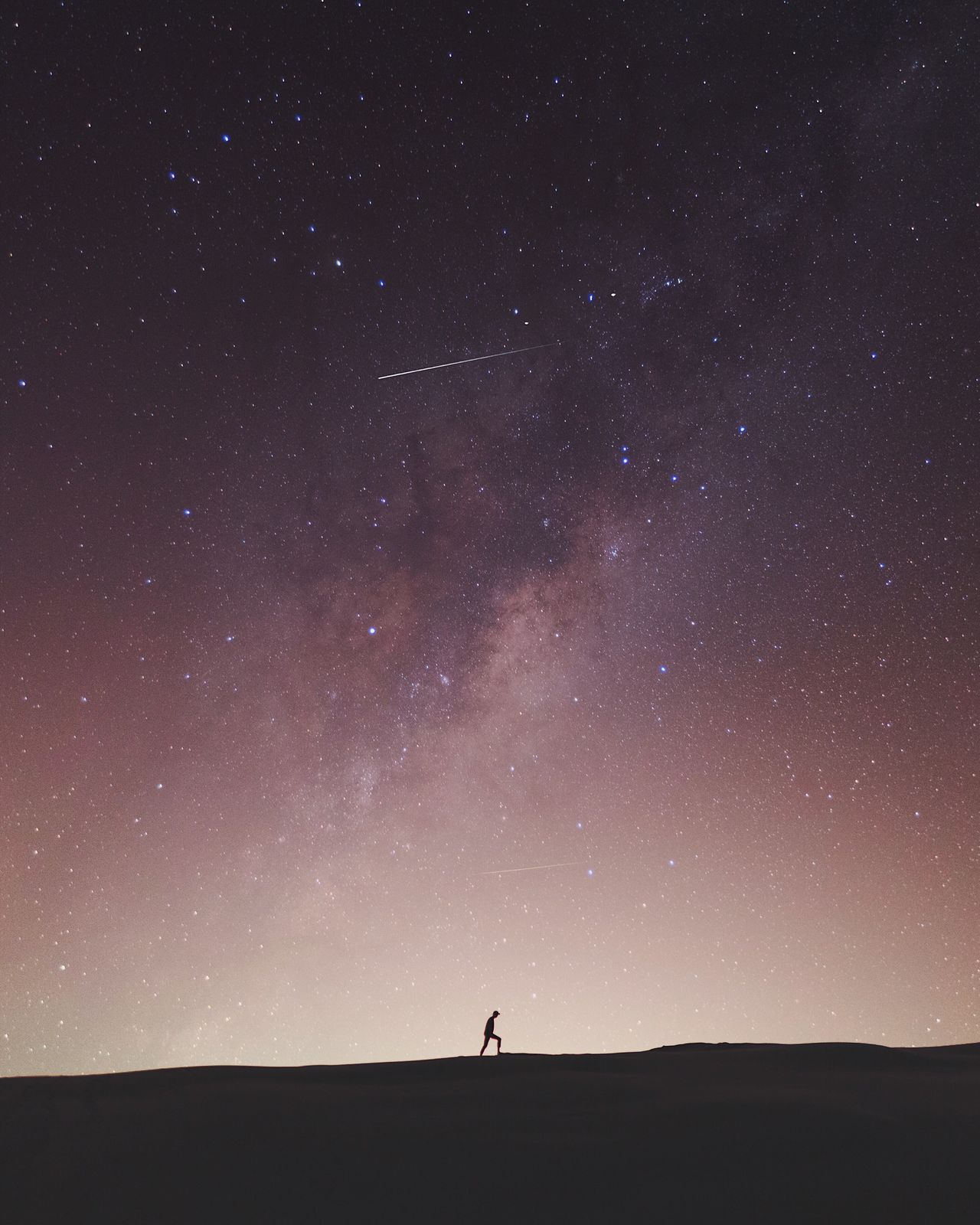 @itchban / www.itchban.com The Great Outdoors - 2017 EyeEm Awards Star - Space Astronomy Silhouette Night Beauty In Nature One Person Scenics Sky Nature Tranquil Scene Discovery Space Tranquility Adults Only Galaxy One Man Only Constellation Real People Standing Outdoors