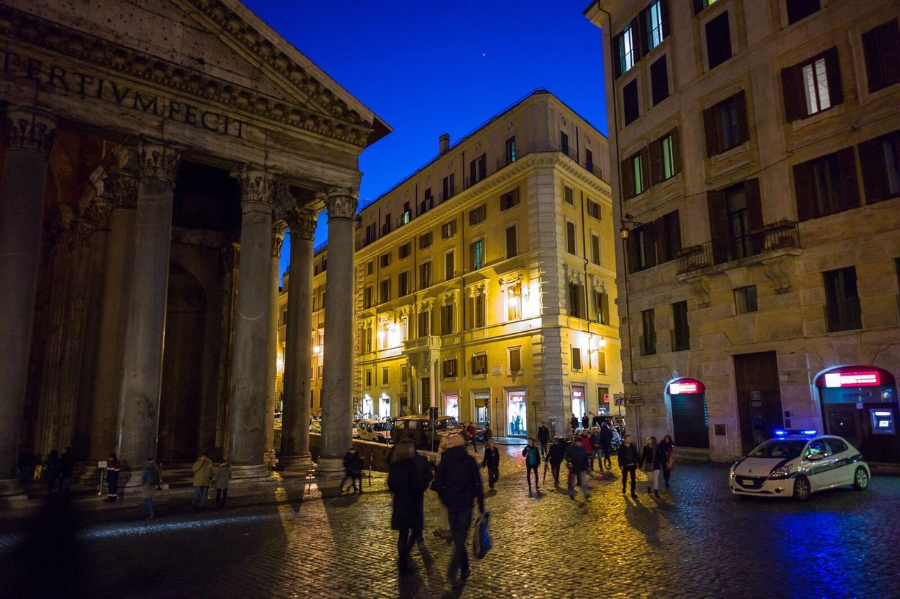Rome Building Exterior Illuminated Night Architecture City Street Outdoors Travel Destinations Roma Italy Italia Leicacamera Cityscape Travel Explore