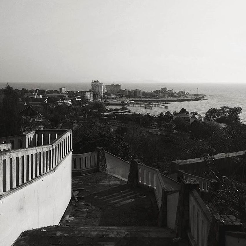 At the hill top Seascape Hilltop Bwphotography Blackandwhite Sea View