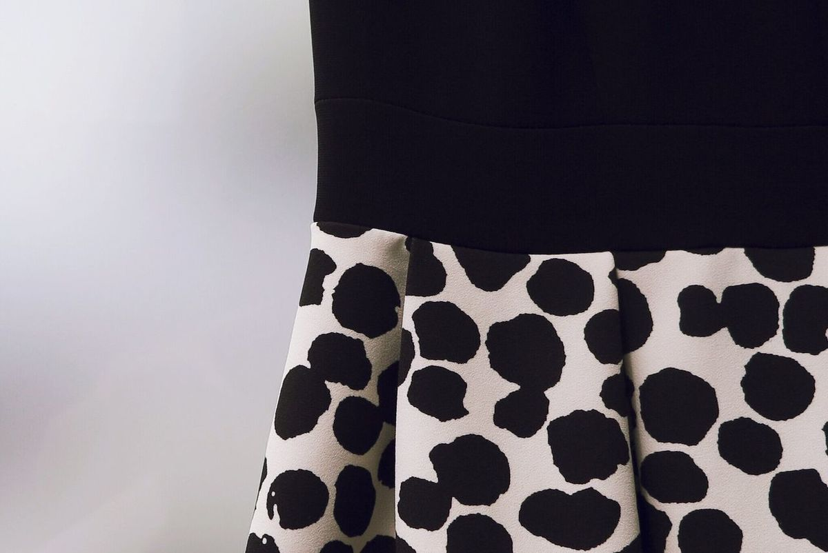 Dress Mixed Indoors  Pattern No People Textile Close-up Day Fashion Evening Dress Dots Pattern, Texture, Shape And Form Detail Details Style Woman Clothes Black And White Black & White Lovely Dress Still Life Elégance