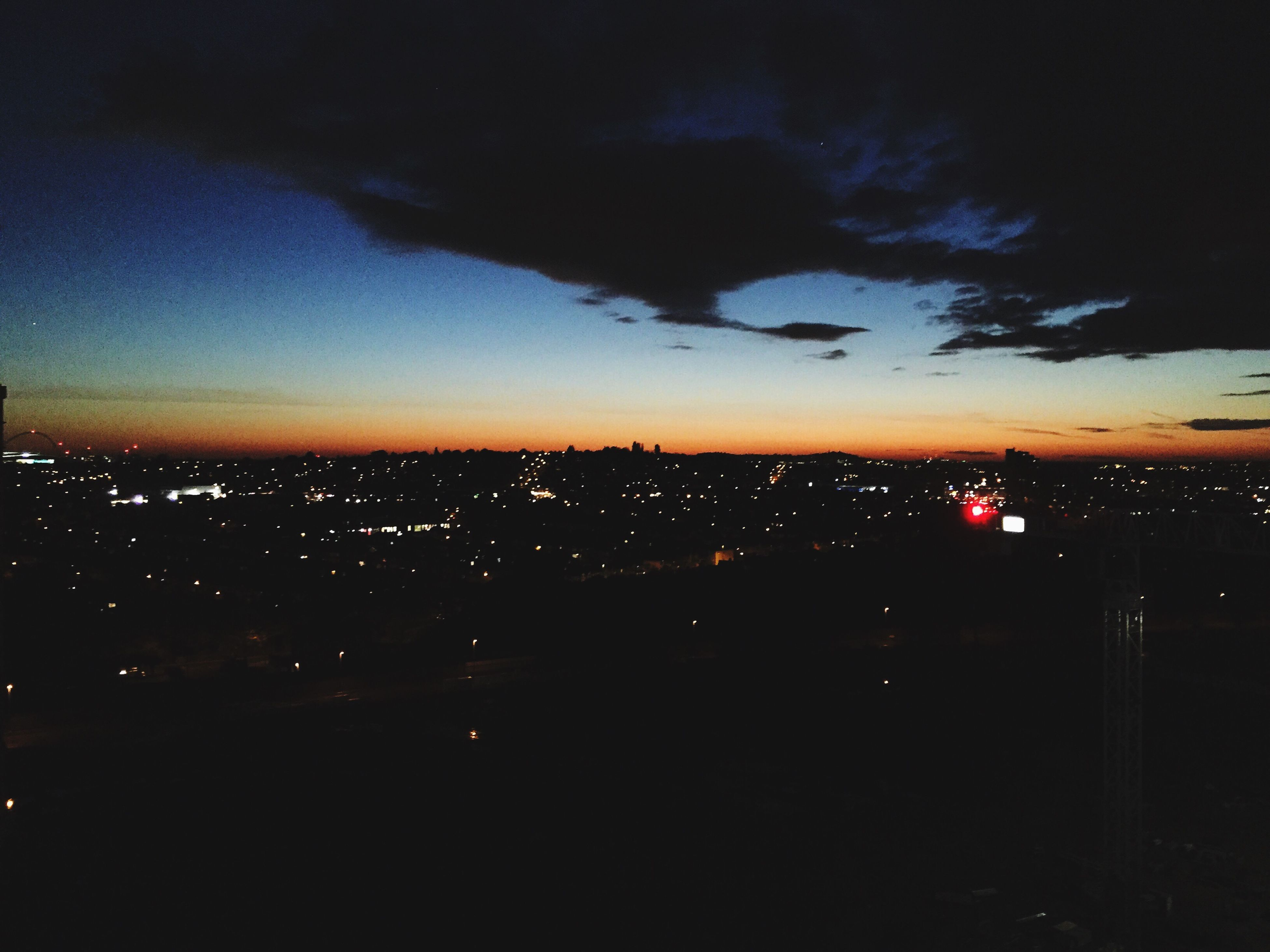 sky, silhouette, nature, sunset, outdoors, no people, beauty in nature, scenics, tree, illuminated, night