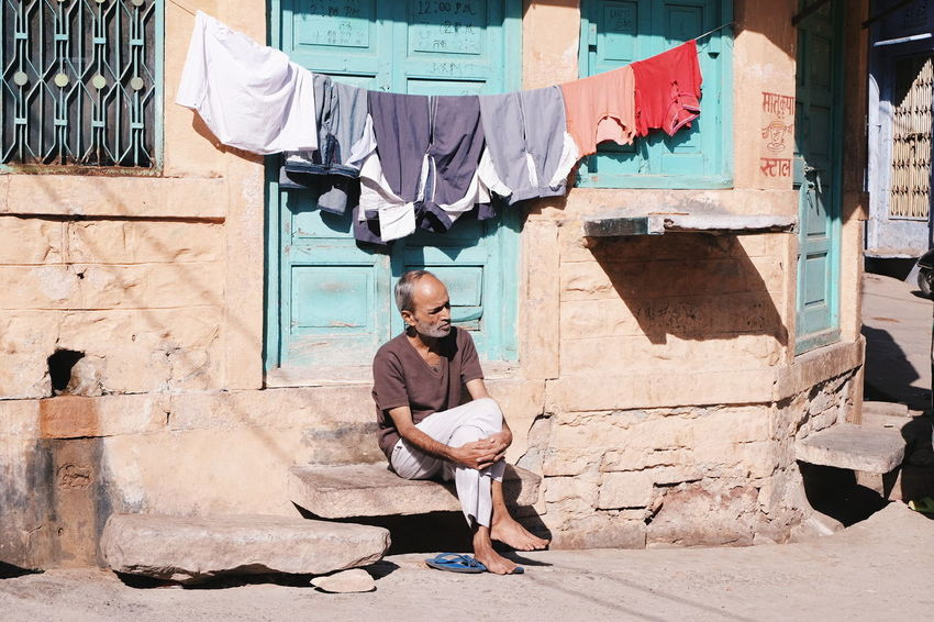 Daily musings of an Indian man. (Jodhpur, India) Rajasthan Reflect Travel Human India Jodhpur Afternoon Streetphotography Meditation Wanderlust Earth One Man Only Only Men Full Length One Person Adults Only Adult