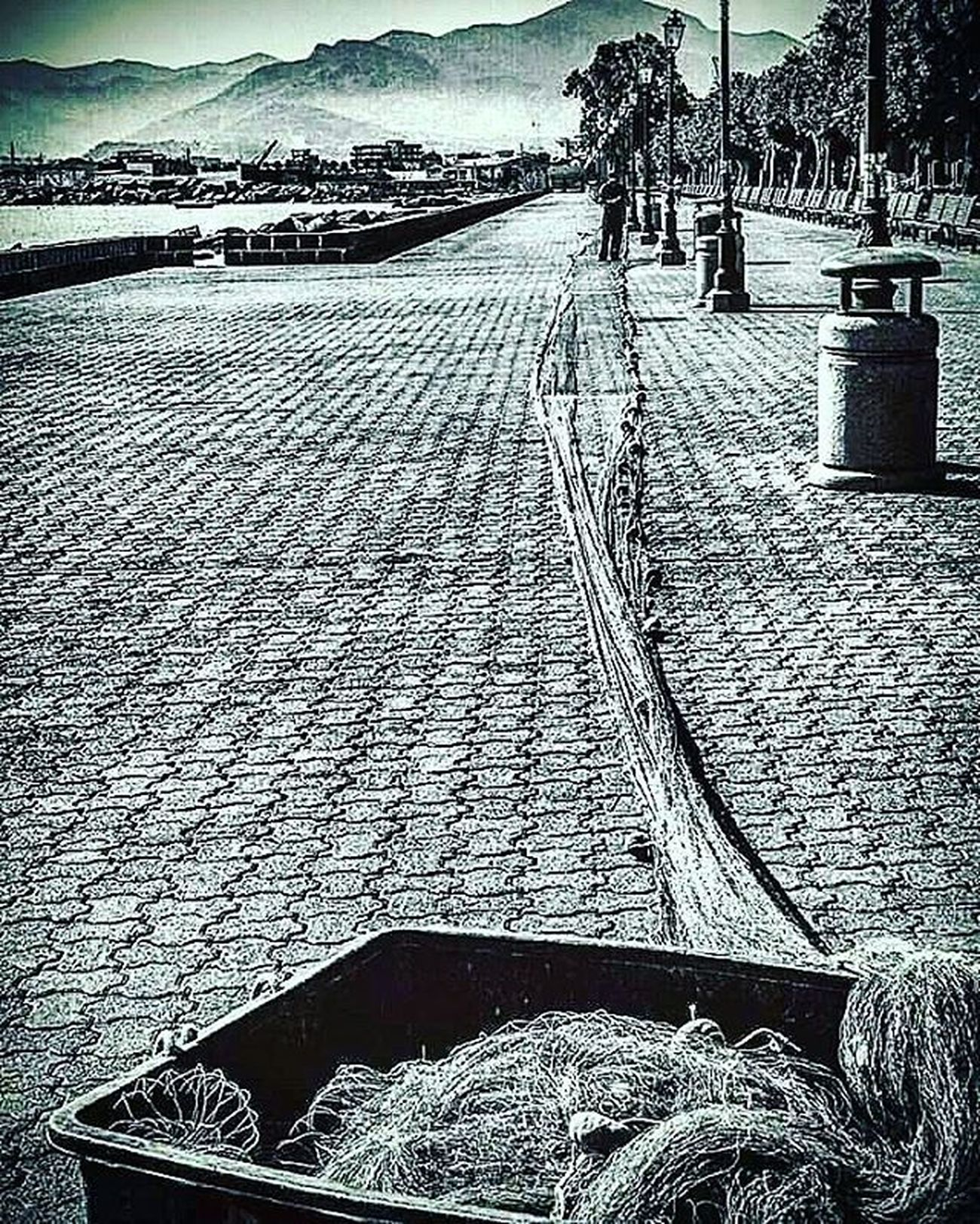 Walk. Sicily Milazzo Marinagaribaldi Nets Blackandwhite Fish Perspective Photooftheday Day Sicily City Minimal L4l Follow4follow Architecture Rain Rcnocrop All_shots Amazing Art Awesome Baby Beach Clouds Colorful