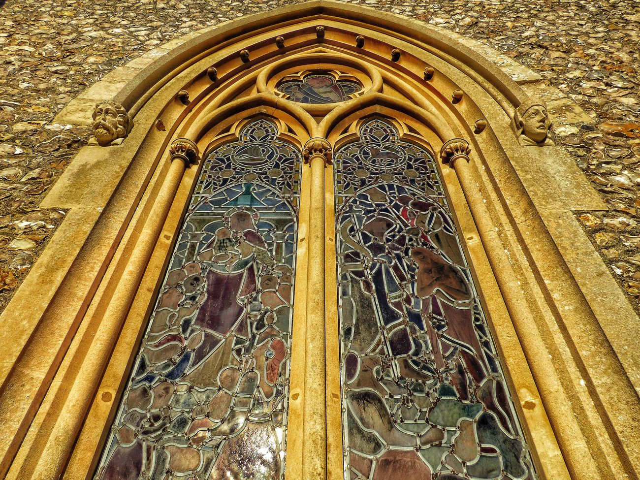 Stained Glass Window Low Angle View History