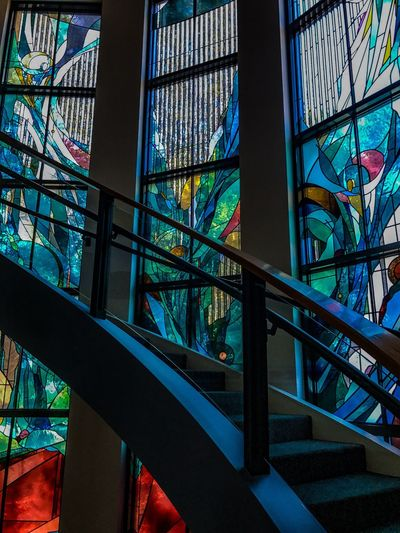 Stained Glass Cal Lutheran Low Angle View Architecture Pattern Fine Art Photography Los Angeles, California Urban Lifestyle Street Photography Southern California Geometric Shape Hidden Gems  Window